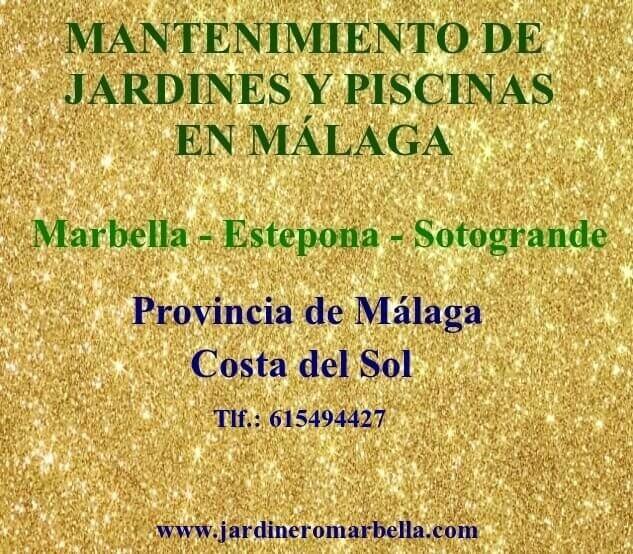 ESTEPONA JARDINERO MARBELLA JARDINERÍA SOTOGRANDE JARDINERO MÁLAGA JARDINERÍA ESTEPONA MANTENIMIENTO JARDINES Y PISCINAS